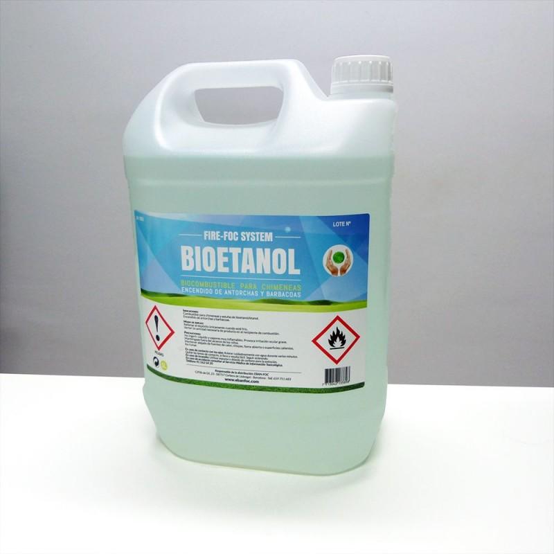 Garrafa Bioetanol 5L Eban-Foc - Bioetanol barato y de calidad - El Club del Fuego
