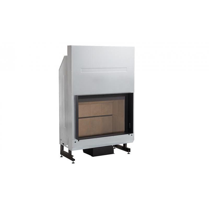 Hogar de leña con puerta guillotina Rocal G400