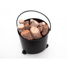 Cubo con ruedas para leña - El Club del Fuego
