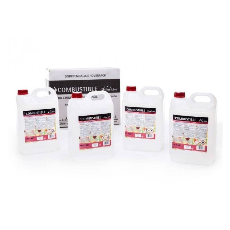 Bioetanol líquido para biochimeneas y bioestufas
