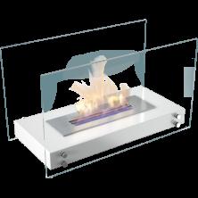 chimenea-bioetanol-suelo-kratki-hotel-color-blanco-encendida-el-club-del-fuego