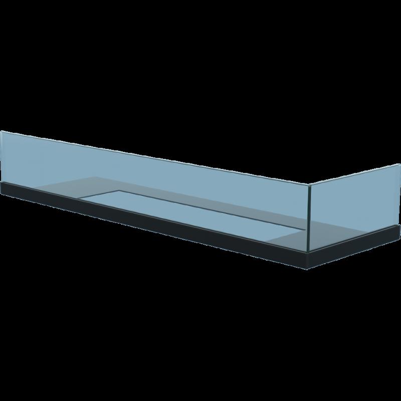 Cristal con esquina para quemador largo de Kratki lado abierto derecho