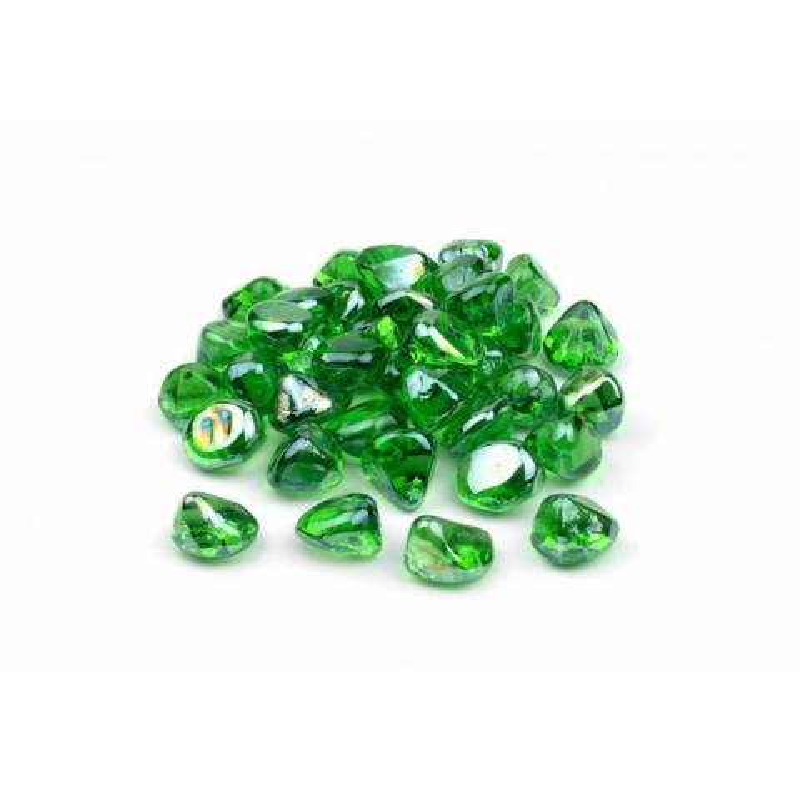 Cristal decorativo con forma de diamante verde