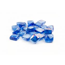 Cristal decorativo cuadrado para biochimeneas azul oscuro