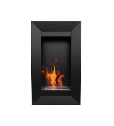 Chimenea de pared vertical a bioetanol charlie 2 - Chimenea bioetanol pared ...