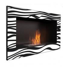 Zebra sin cristal - chimenea de bioetanol de pared