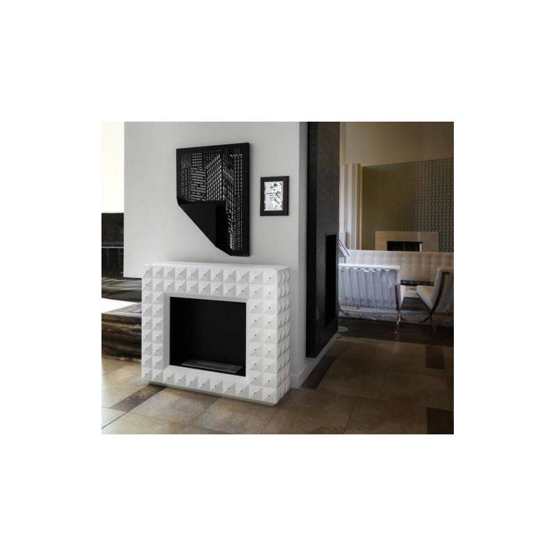 Chimenea de bioetanol de pared manhattan el club del fuego - Chimenea bioetanol pared ...