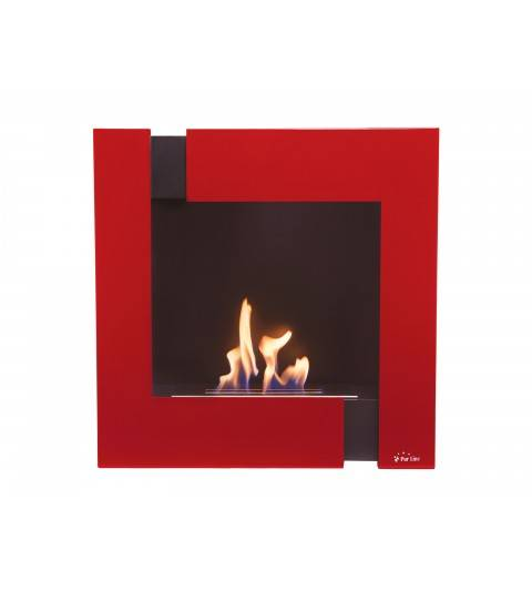 Chimenea biotenol pared color rojo - Modelo ARIADNA R