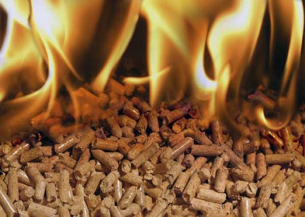 combustión pellets